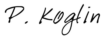 Digitale Unterschrift von Patrick Koglin, B. Sc. und zert. NLP-Coach